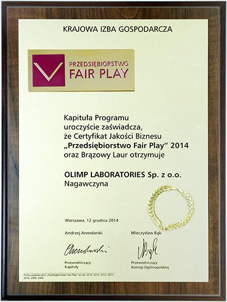 FAIR PLAY ENTERPRISE 2014
