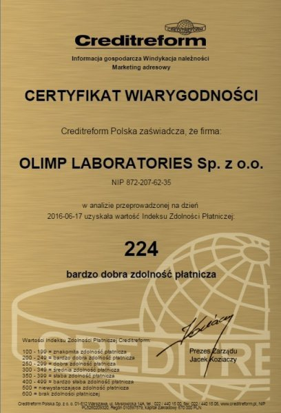 Certificate of Credibility